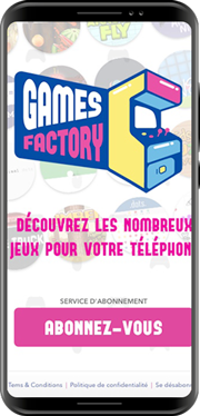 Games Factory<br/><span>Fun and interactive experiences with more than 50 games. France </span>